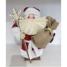 Дед мороз (красная мешковина, мех)