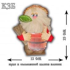 КЗБ  Банник Кузя в соломенной шляпе с кадушкой
