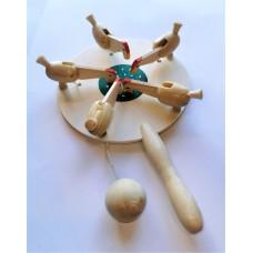 """Развивающая игрушка """"Курочка по зернышку"""",дерево 12*20 см."""