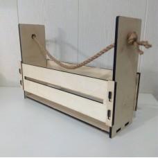 Ящик прямоугольный, дерево , 35*11*24см, фанера 6мм