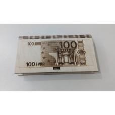 Купюрница 100 евро, гравировка 17*9,5*2 без упаковки