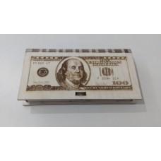 Купюрница 100 долларов, гравировка 17*9,5*2 без упаковки