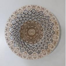 Тарелка средняя круглая глубокая с гравировкой №2