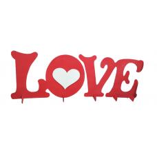 """Надпись """"Love"""" большая, дерево, материал: фанера 3мм. ширина 128, высота 45 см.         НЕЦВЕТНОЙ"""
