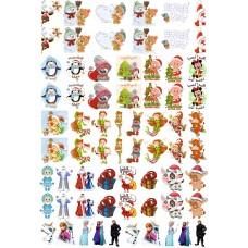 """Набор цветных термотрансферные наклейки """"Куколки №1"""" А4"""