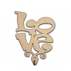 """Топпер """"Love 2 """" квадратный, большой 15*18*22.5 см, без упаковки"""