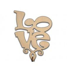 """Топпер """"Love 2 """" квадратный, средний 11*15*22,5 см, без упаковки"""