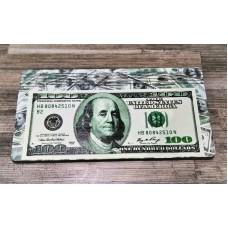 Купюрница 100$ руб,  ДВП 18,6*9,8*0,9 см. в вакуумной упаковке