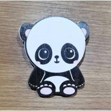 """Значок деревянный """"Малыш панда"""""""
