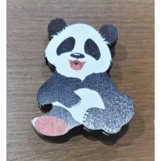 """Значок деревянный """"Панда"""" улыбка"""