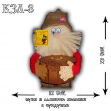 КЗЛ-8  Кузя в льняном колпаке с сундуком