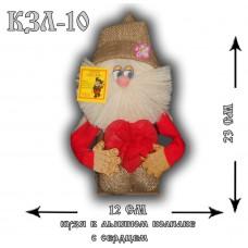 КЗЛ-10  Кузя в льняном колпаке с сердцем