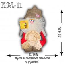 КЗЛ-11  Кузя в льняном колпаке с рублем