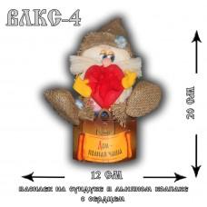 ВЛКС-4  Василек на сундуке в льняном колпаке с сердцем
