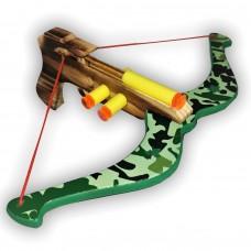 Деревянная игрушка - Арбалет, принт 23*28 см.