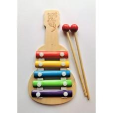 Металлофон 5 тонов, Гитара 11*21 см