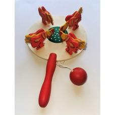 """Развивающая игрушка """"Курочка по зернышку"""", цветная 12*20 см."""
