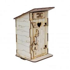 """Копилка деревянная  """"Денежный туалет-1"""" с открывающейся дверью"""