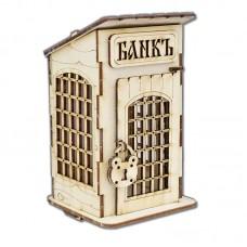 """Копилка деревянная  """" Банк"""""""