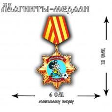 Магнит медаль Любимому внуку