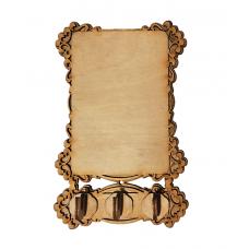 Ключница - молитва №3 (прямоугольная), заготовка, 18*11см, без упаковки