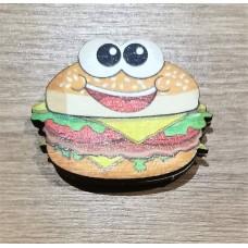 "Значок деревянный ""Чизбургер"" №1"